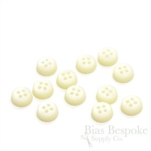 Extra Thick Pearly Cream Shirt Buttons in Two Sizes, Made in Italy