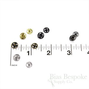 Sew On Metal Snaps, Size 2/0 (8mm)