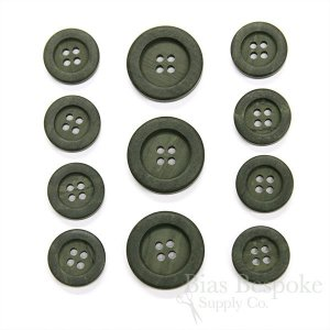 Dark Gray Green Wood-Look Suit Buttons, Made in Italy