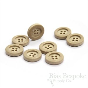 Tan Wood-Look Suit Buttons, Made in Italy