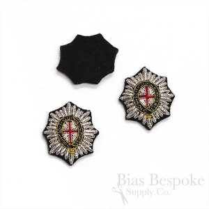 Bullion Wire Embroidered Badge: Small and Exquisite Brunswick Star