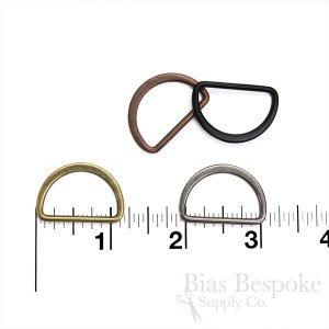 "PENG 1"" Wide Antique Finish Metal D-Rings"