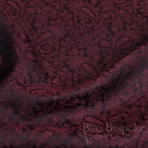 JIMI Cupro, Viscose & Lurex Jacquard Paisley Lining, Made in Italy