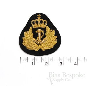 Gold and Silver Bullion Wire Embroidered Badges