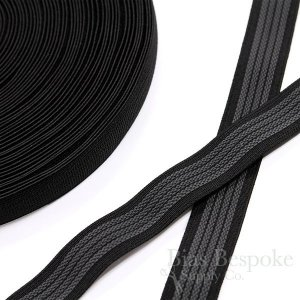 "1"" Elastic with Gripping Rubber, 4 Colors Available"