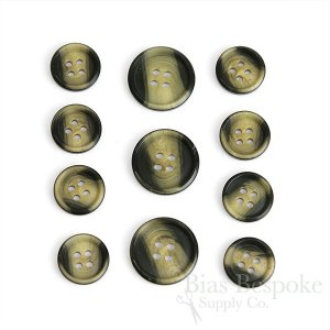 KOREY Sharp-Ridged Dark & Blonde Suit Buttons, Made in Germany