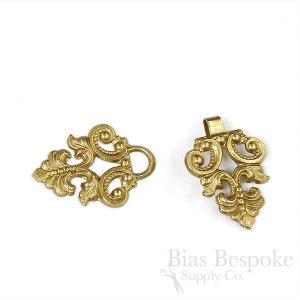 "IRENEE Elegant Stamped Metal Clasp, 3"", Made in France"