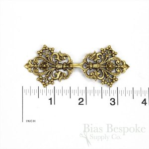 "ODILE Arabesque and Flower Clasp, 3 3/8"", Made in France"