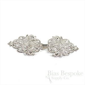 "CLOTHILDE Clasp for Cloaks and Capes, 4"", Made in France"