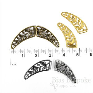 "ABSOLON Clasp for Cloaks and Capes, 3 1/2"", Made in France"