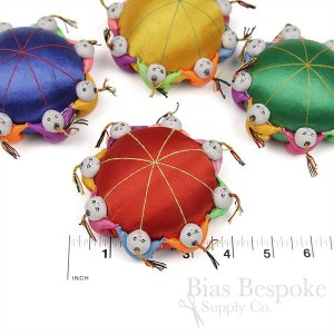 Eight Person Chinese Pin Cushion in Four Colors