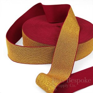 "CHIARA 2"" Wide Woven Elastic with Lurex"
