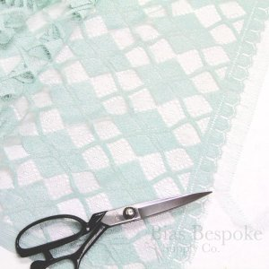 "35"" Wide Plaid French Leavers Lace Fabric in Two Colors"