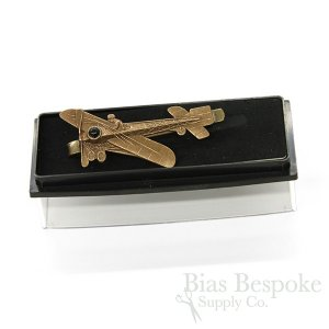 BLERIOT Tie Bar with Early Airplane Design, Made in France