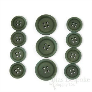 LUCA Classic Matte Fir Green Corozo Suit Buttons, Made in Italy