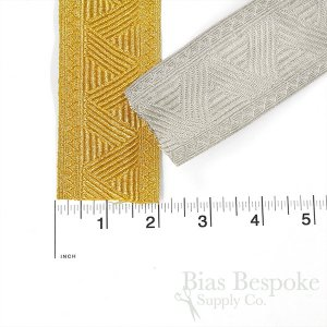 "AJAX 2"" Wide Zigzag Pattern Braid Trim"
