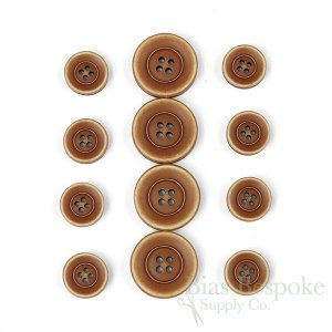 BRONKO Cinnamon Brown Matte Buttons for Suits & Overcoats, Made in Italy