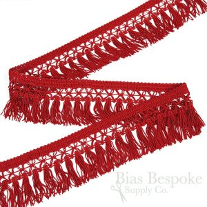"2 1/4"" Fringe with Decorative Crossed Top, Made in Germany"