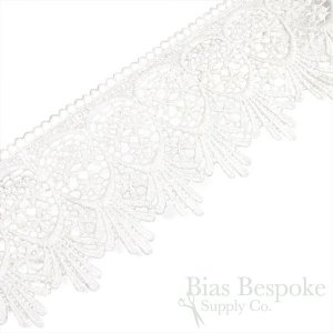 "3"" Wide Off-White Cotton Lace Edging"