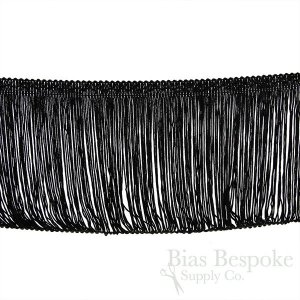 "4 3/4"" Long Black Fringe, Made in Germany"
