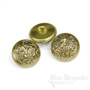 Antique Gold Knight's Armor Buttons, Made in France