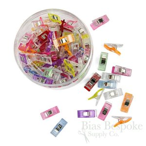 Box of 100 Multicolor Sewing Clips