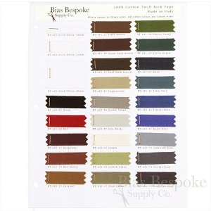 Sample Sheet: Color Chart for ROCCO 100% Cotton Twill Tape