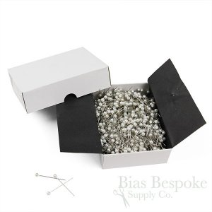 Pearlized Round Head Steel Pins for Crafting