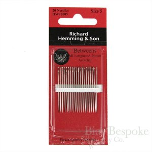Richard Hemming Betweens Hand-Sewing Needles in 6 Sizes