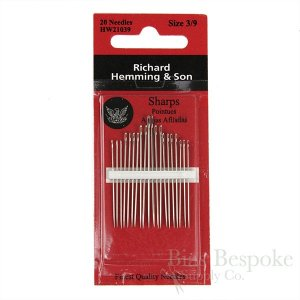 Richard Hemming Sharps Hand-Sewing Needles, Assorted Sizes 3-10
