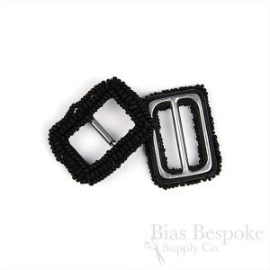 Small Rectangular AGNES Beaded Buckles for Narrow Belts