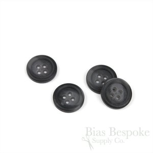 IDRIS Oversized Matte Charcoal Gray Coat Buttons, Made in Italy