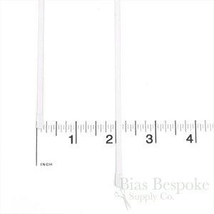 "1/8"" Wide White Spring Steel Boning, 11 Sizes Available"