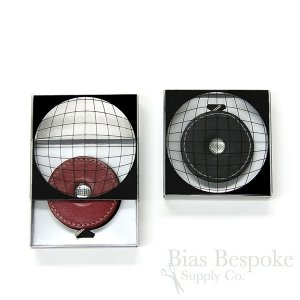 "Leather-Covered Retractable Tape Measures, 60"", Made in Germany"