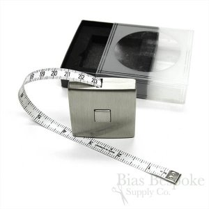 "Modern Stainless Steel Retractable Tape Measure, 60"", Made in Germany"