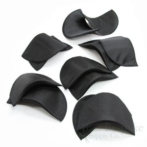 "Fabric-Covered Foam Shoulder Pads, 5/8"" X 8"" X 4 1/2"""