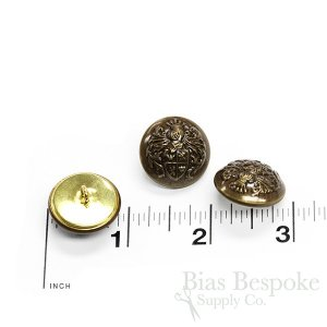 Antique Brass Knight's Armor Buttons, Made in Paris