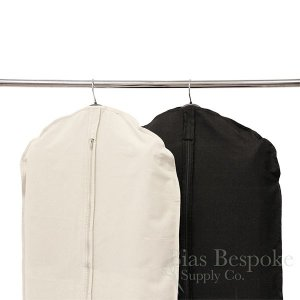 Box of 50 100% Cotton Canvas Suit Bag, Natural or Black