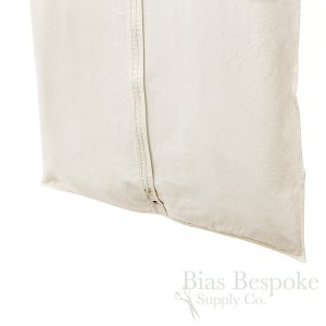 Extra Wide Unbleached 100% Cotton Canvas Suit Bag