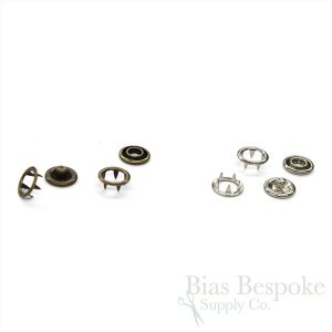 DIRK 4-Part Open Ring Snaps in Two Colors