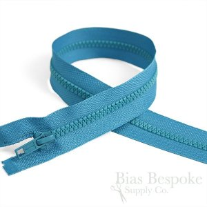 "13"" Length #5 Closed End Zippers with Plastic Teeth, Bias Bespoke Brand"