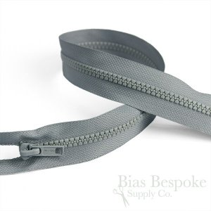 "24"" Length #5 Open End Zippers with Plastic Teeth, Bias Bespoke Brand"