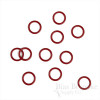 Red Nylon-Coated Metal Rings for Lingerie-Making